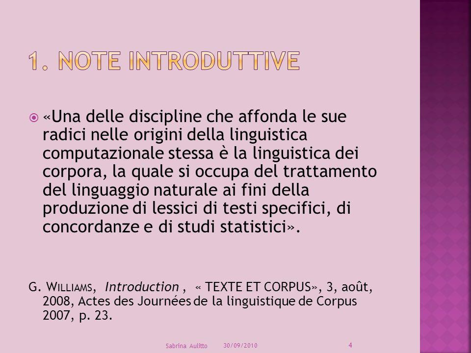 1. Note introduttive