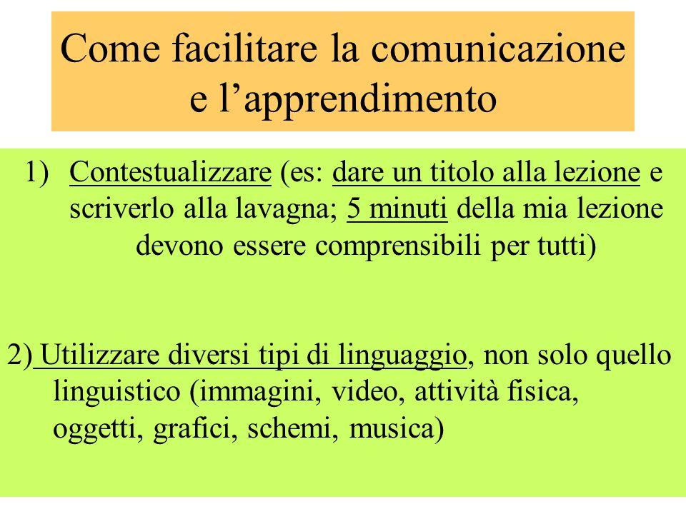Come facilitare la comunicazione e l'apprendimento
