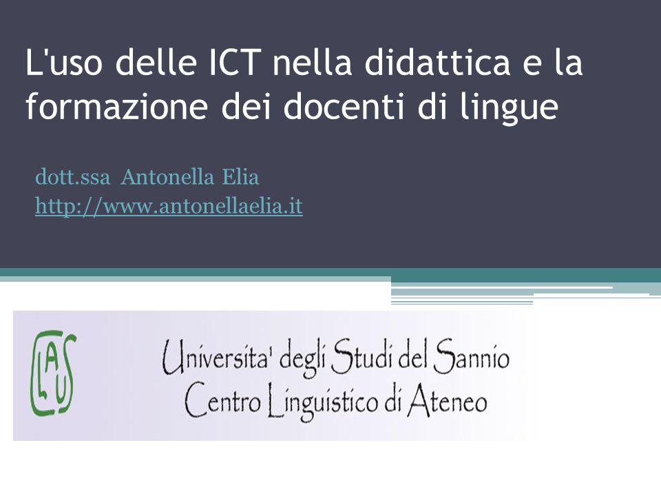 L uso delle ICT nella didattica e la formazione dei docenti di lingue