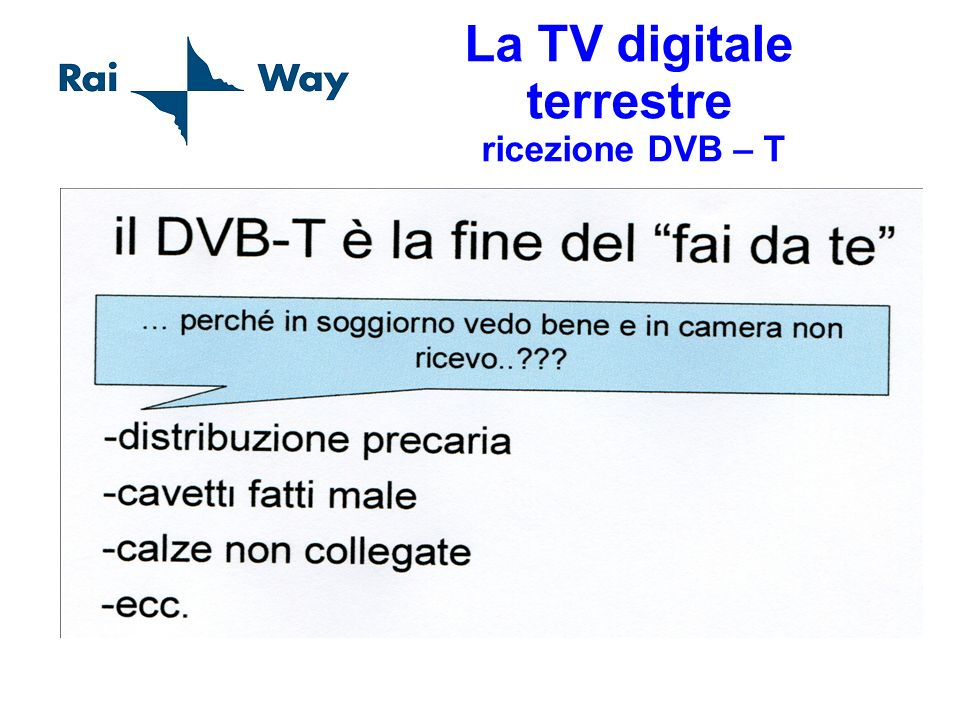 La TV digitale terrestre ricezione DVB – T