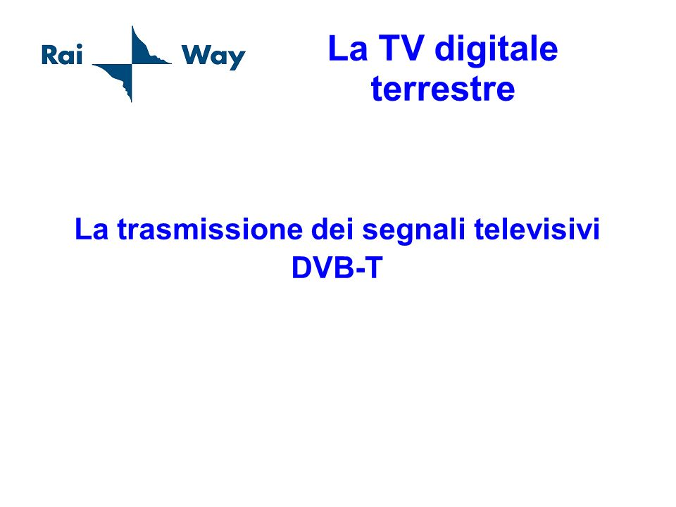 La TV digitale terrestre