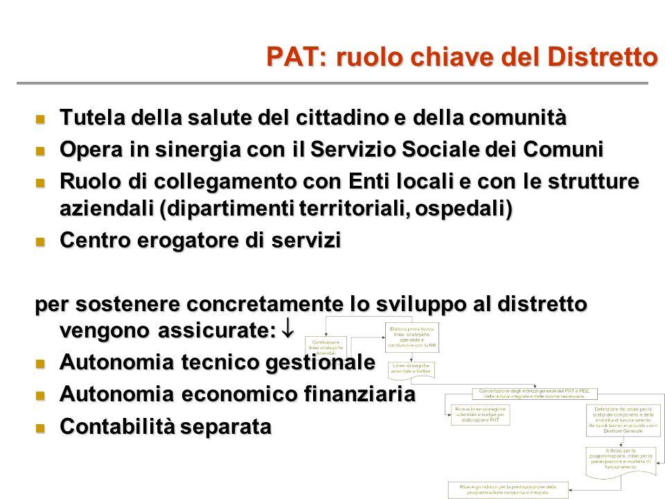PAT: ruolo chiave del Distretto