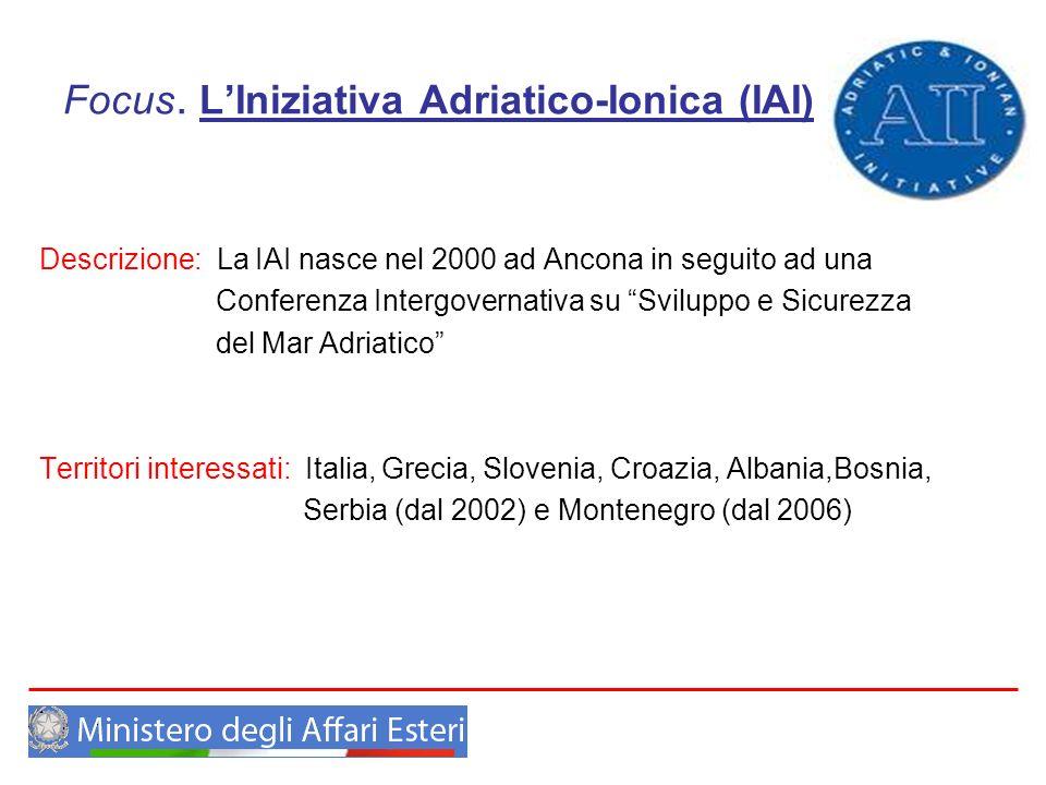 Focus. L'Iniziativa Adriatico-Ionica (IAI)