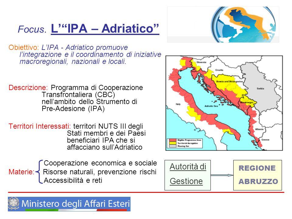 Focus. L' IPA – Adriatico
