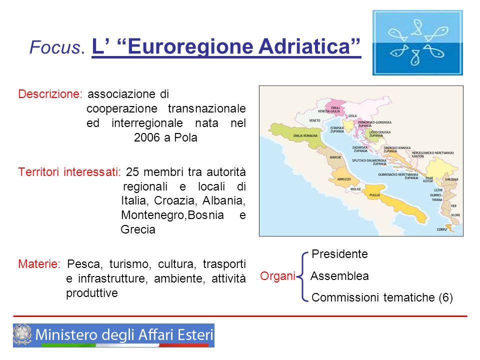 Focus. L' Euroregione Adriatica