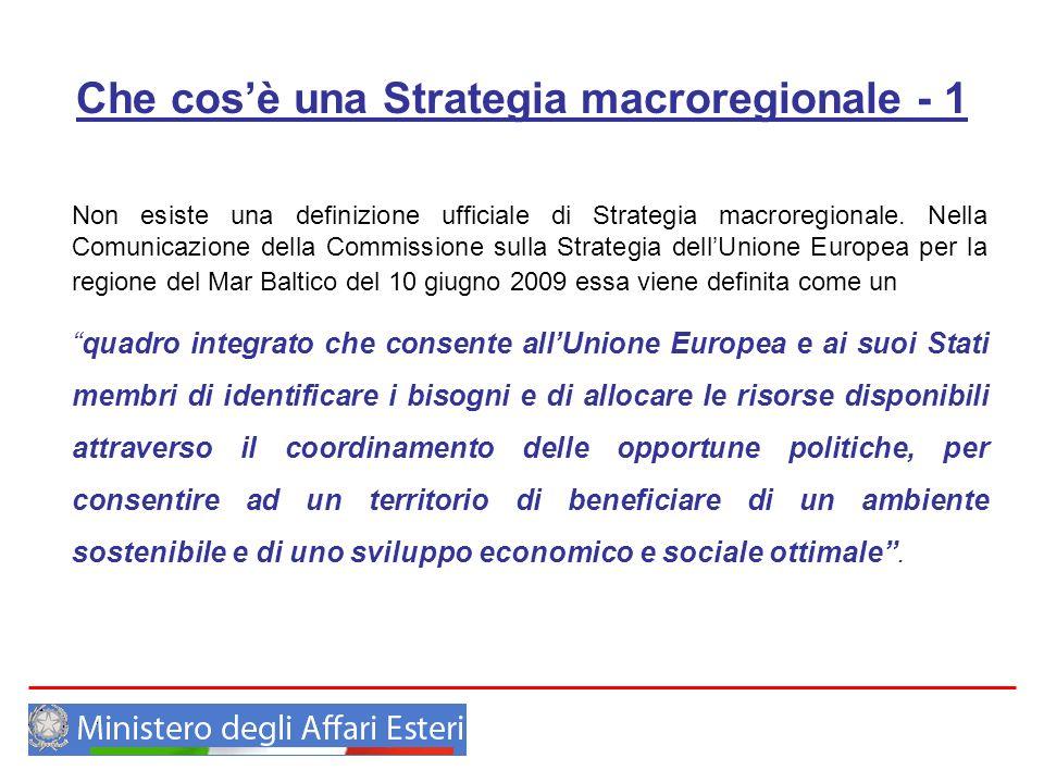 Che cos'è una Strategia macroregionale - 1
