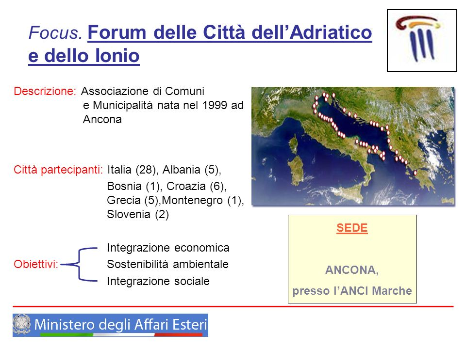 Focus. Forum delle Città dell'Adriatico e dello Ionio