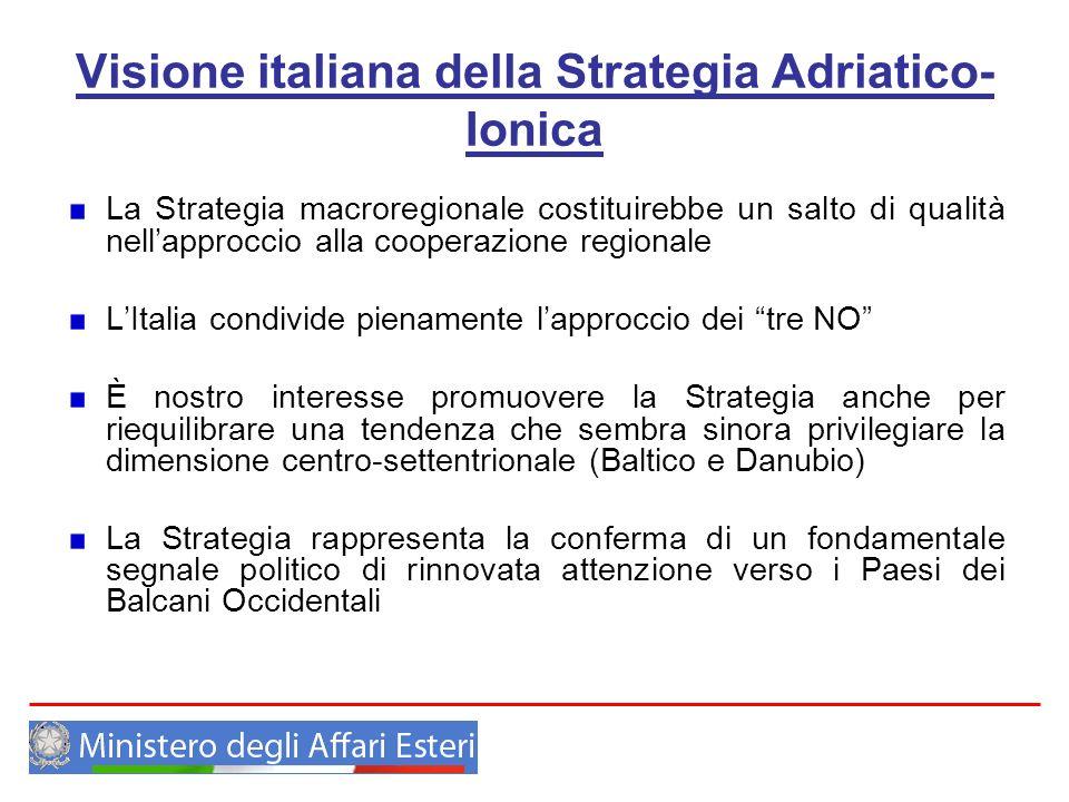 Visione italiana della Strategia Adriatico-Ionica