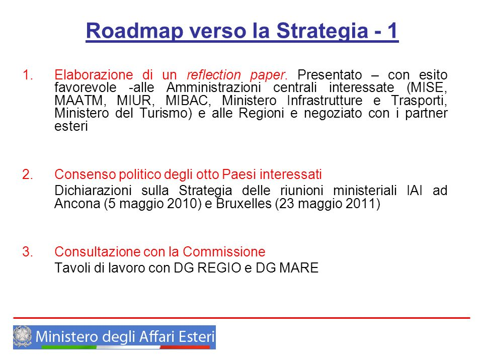 Roadmap verso la Strategia - 1