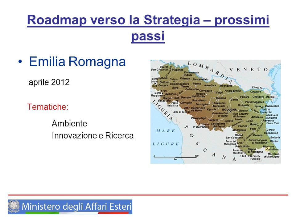 Roadmap verso la Strategia – prossimi passi