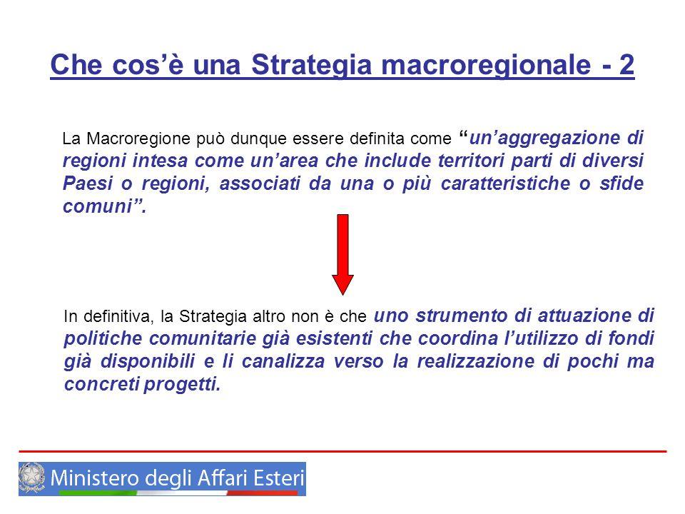 Che cos'è una Strategia macroregionale - 2