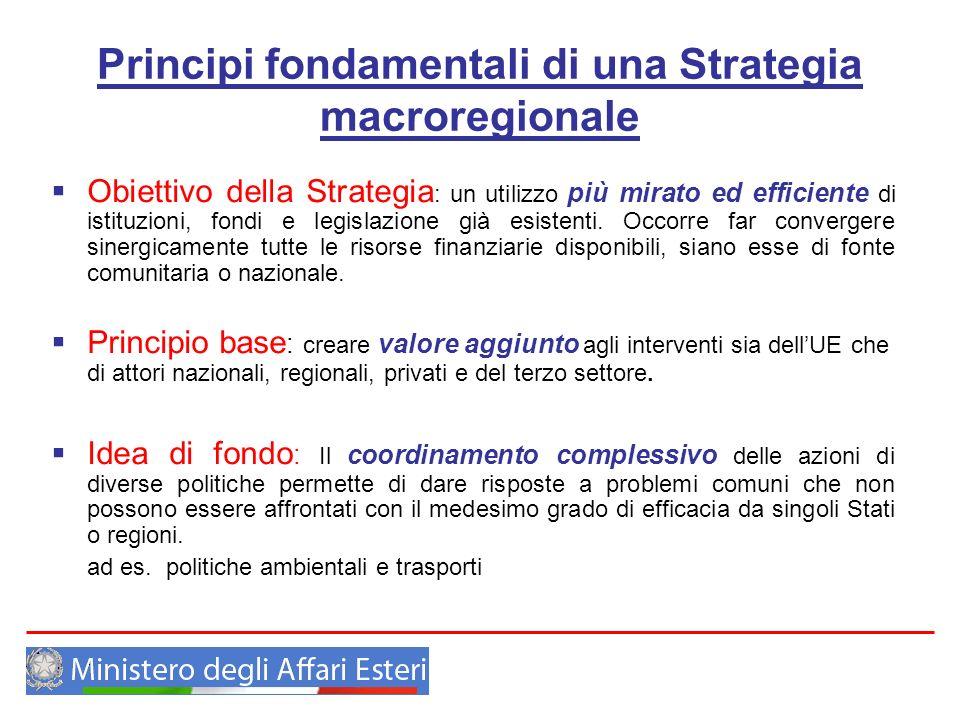Principi fondamentali di una Strategia macroregionale