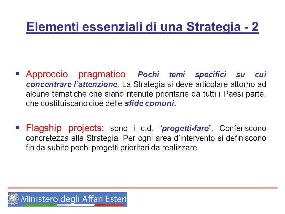 Elementi essenziali di una Strategia - 2