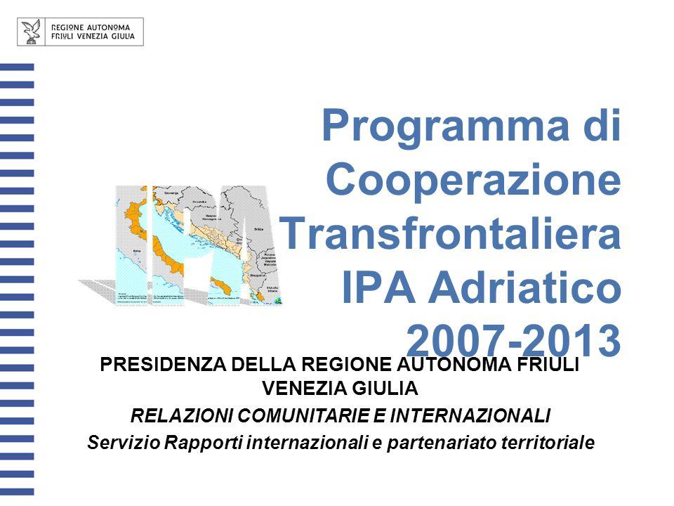 Programma di Cooperazione Transfrontaliera IPA Adriatico 2007-2013