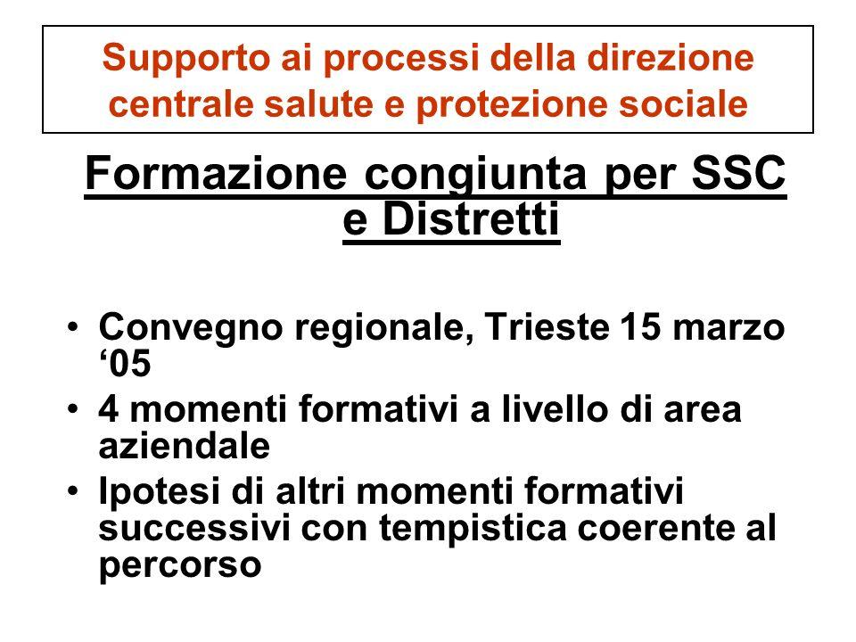 Formazione congiunta per SSC e Distretti