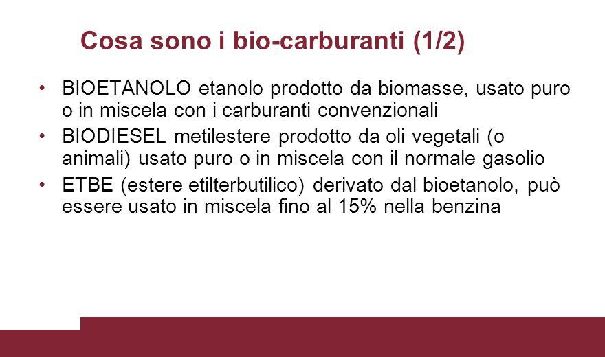 Cosa sono i bio-carburanti (1/2)