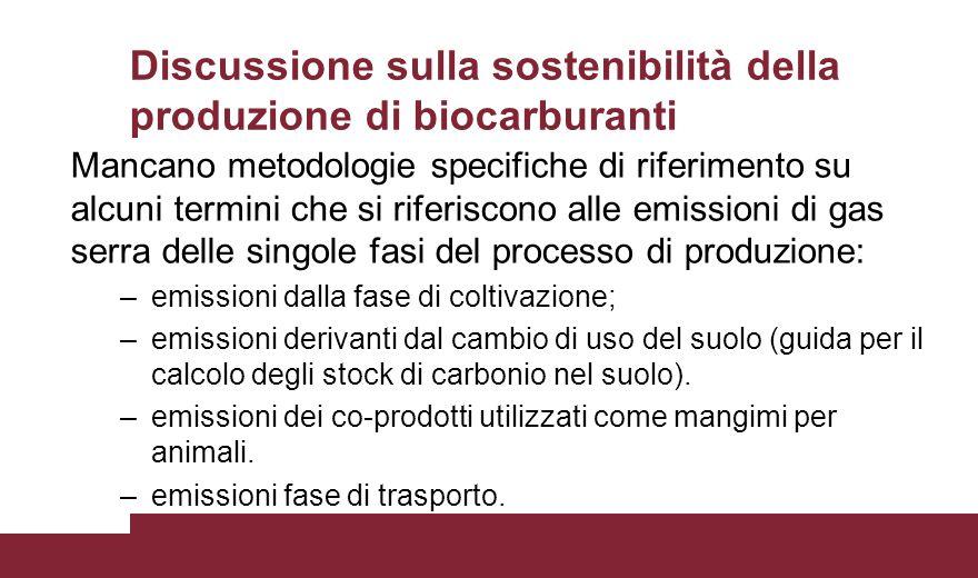 Discussione sulla sostenibilità della produzione di biocarburanti