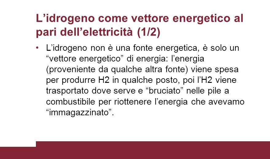 L'idrogeno come vettore energetico al pari dell'elettricità (1/2)