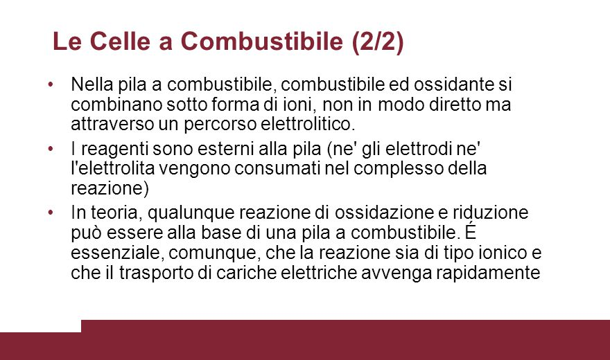 Le Celle a Combustibile (2/2)
