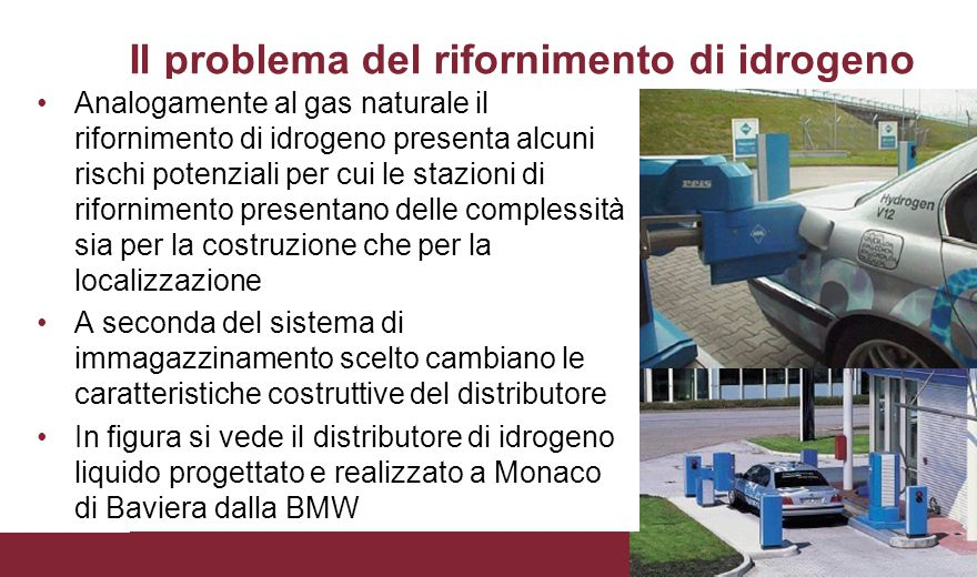 Il problema del rifornimento di idrogeno