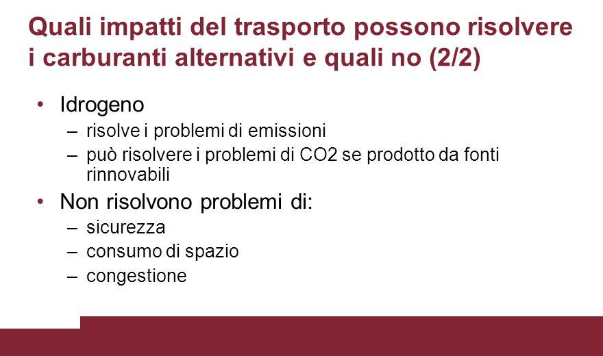 Quali impatti del trasporto possono risolvere i carburanti alternativi e quali no (2/2)