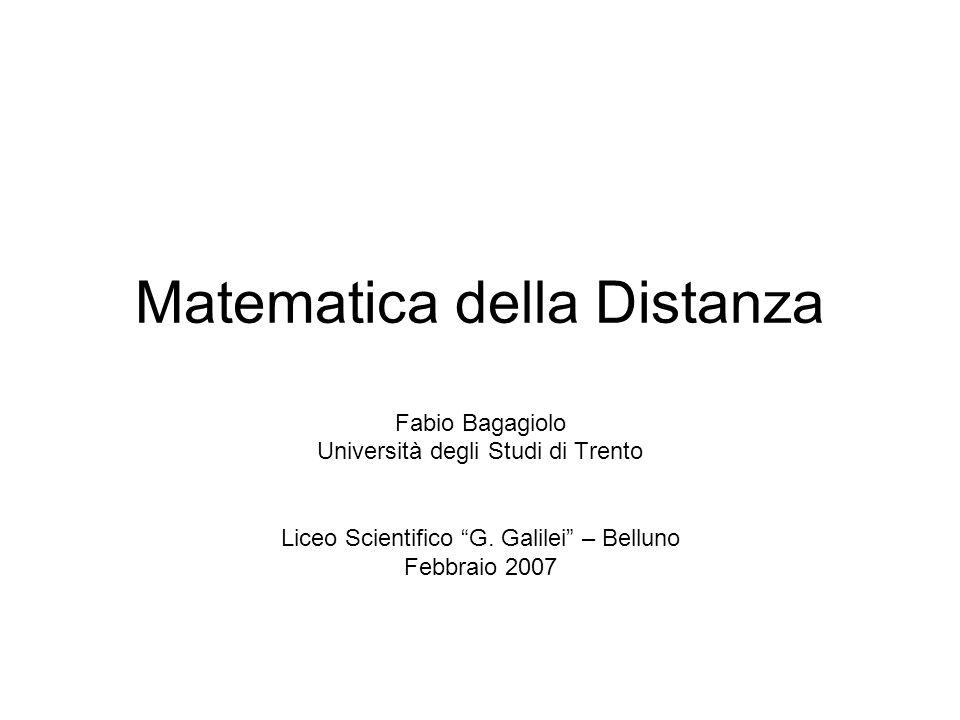Matematica della Distanza