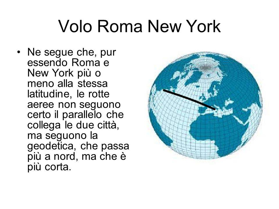 Volo Roma New York