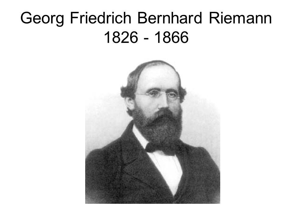 Georg Friedrich Bernhard Riemann 1826 - 1866