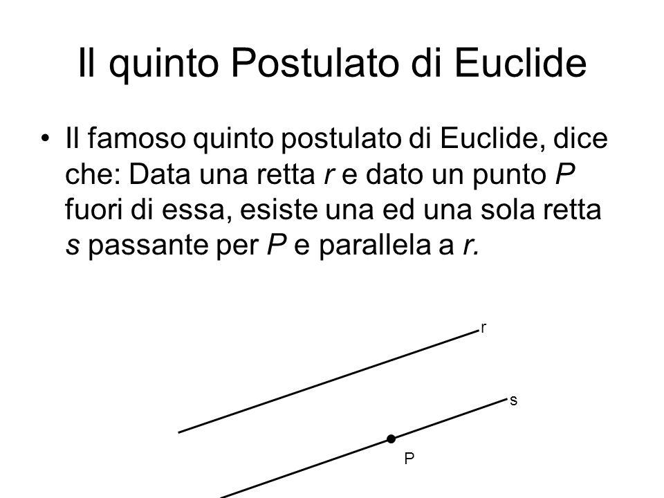 Il quinto Postulato di Euclide