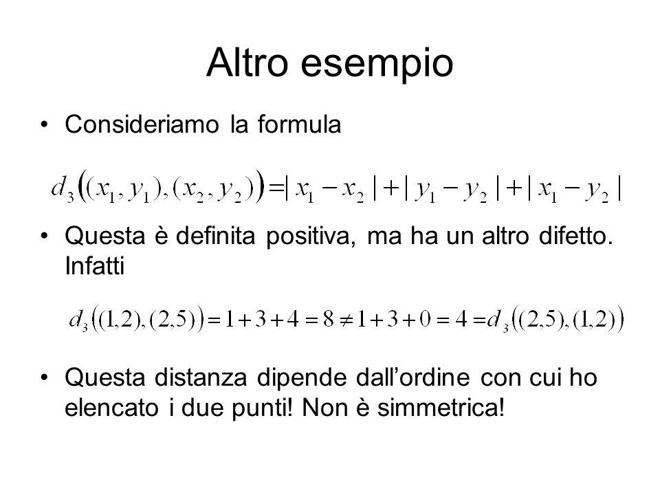 Altro esempio Consideriamo la formula