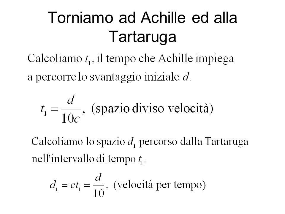Torniamo ad Achille ed alla Tartaruga