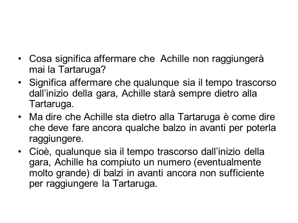 Cosa significa affermare che Achille non raggiungerà mai la Tartaruga