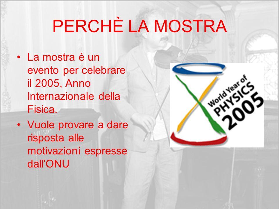 PERCHÈ LA MOSTRA La mostra è un evento per celebrare il 2005, Anno Internazionale della Fisica.