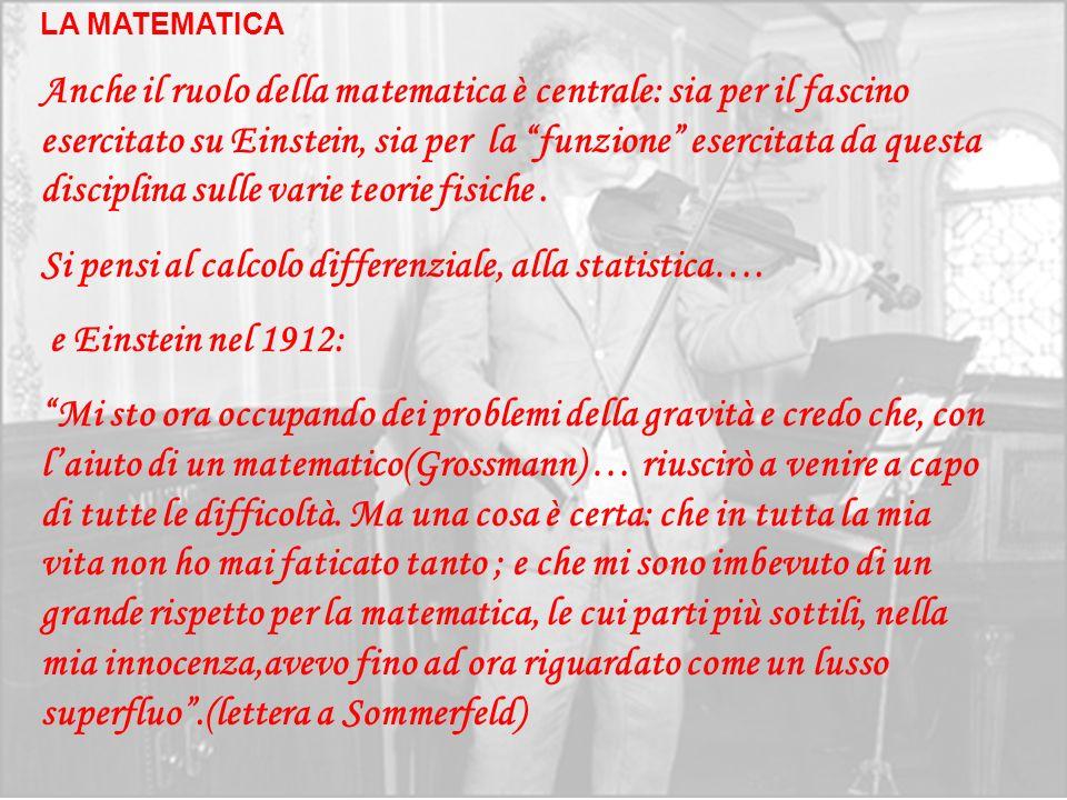 Si pensi al calcolo differenziale, alla statistica….