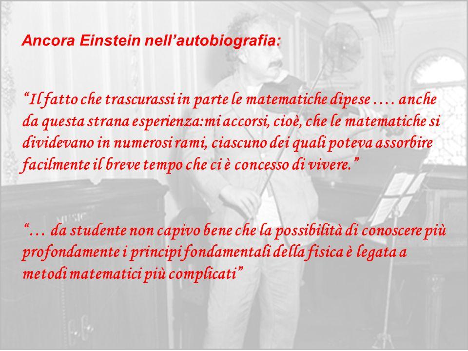 Ancora Einstein nell'autobiografia: