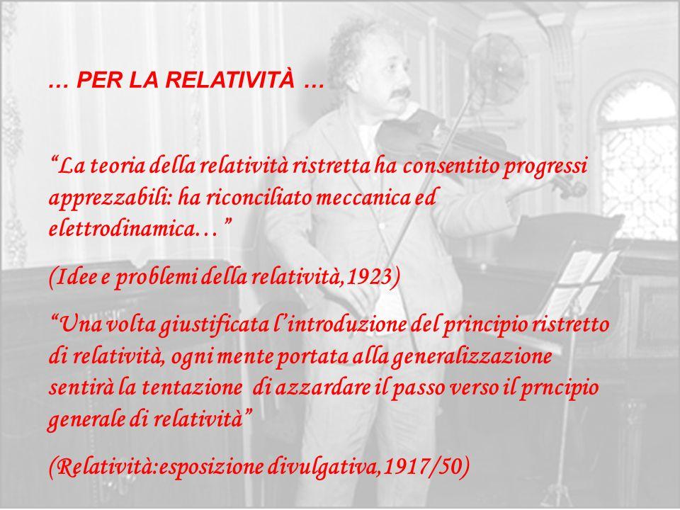 (Idee e problemi della relatività,1923)