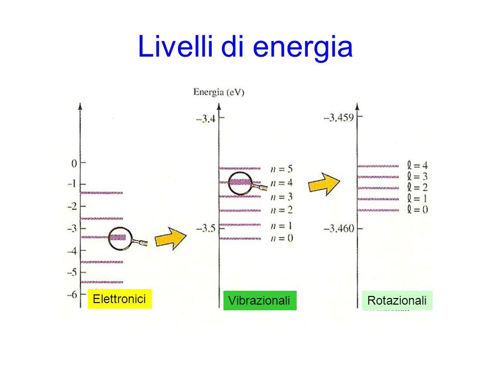 Livelli di energia Elettronici Vibrazionali Rotazionali