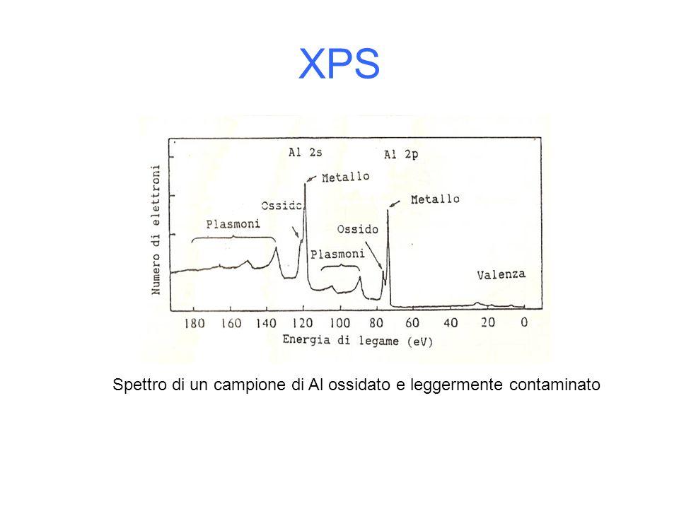 XPS Spettro di un campione di Al ossidato e leggermente contaminato