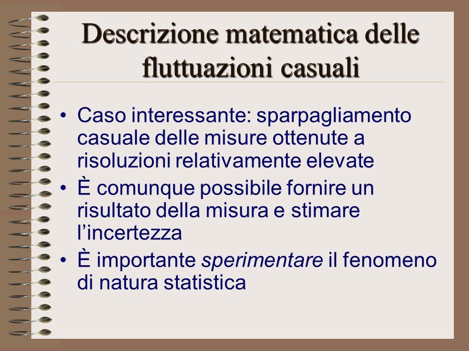 Descrizione matematica delle fluttuazioni casuali