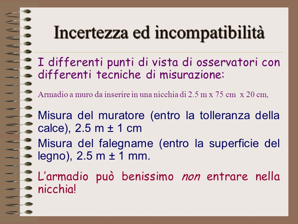 Incertezza ed incompatibilità