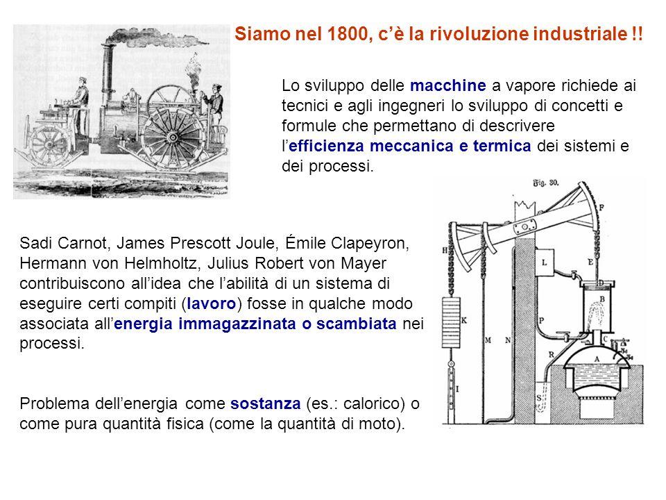Siamo nel 1800, c'è la rivoluzione industriale !!