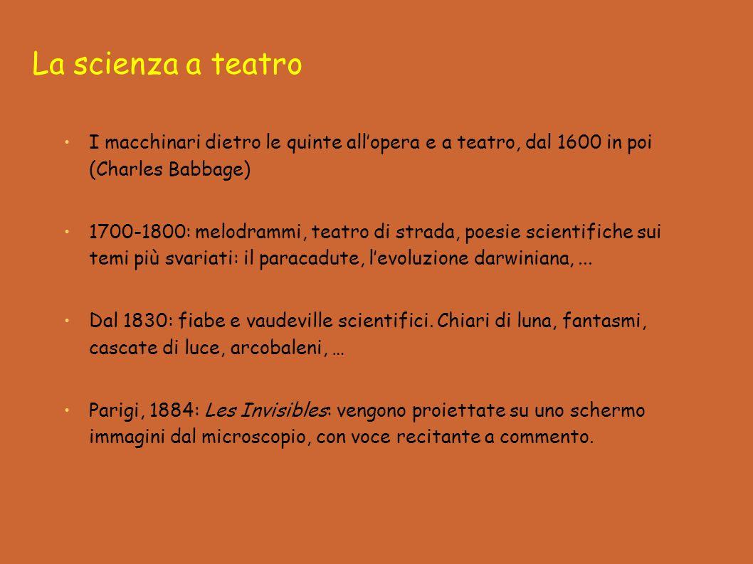 La scienza a teatro I macchinari dietro le quinte all'opera e a teatro, dal 1600 in poi (Charles Babbage)
