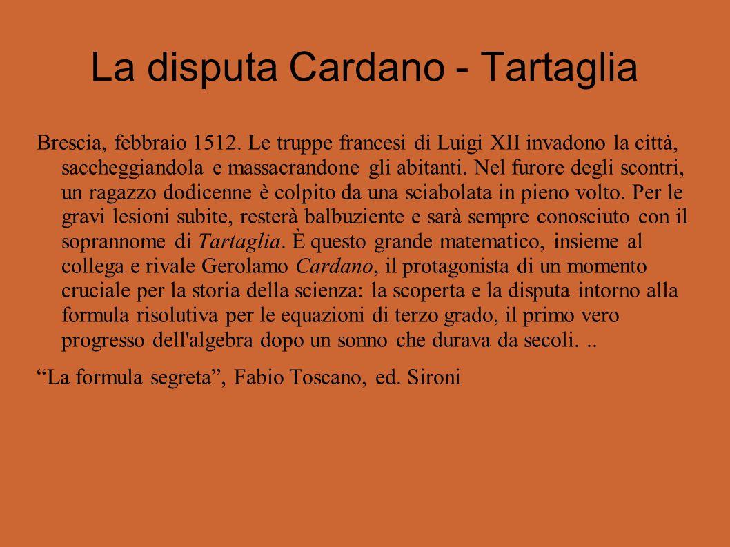 La disputa Cardano - Tartaglia