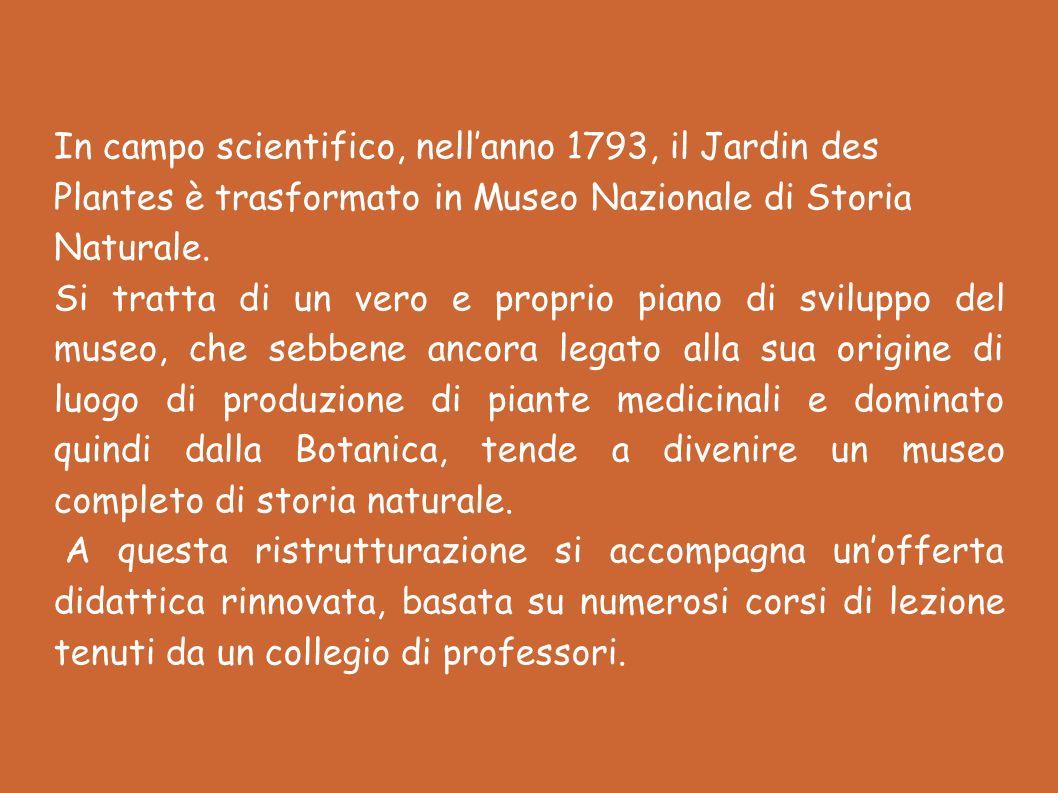 In campo scientifico, nell'anno 1793, il Jardin des Plantes è trasformato in Museo Nazionale di Storia Naturale.