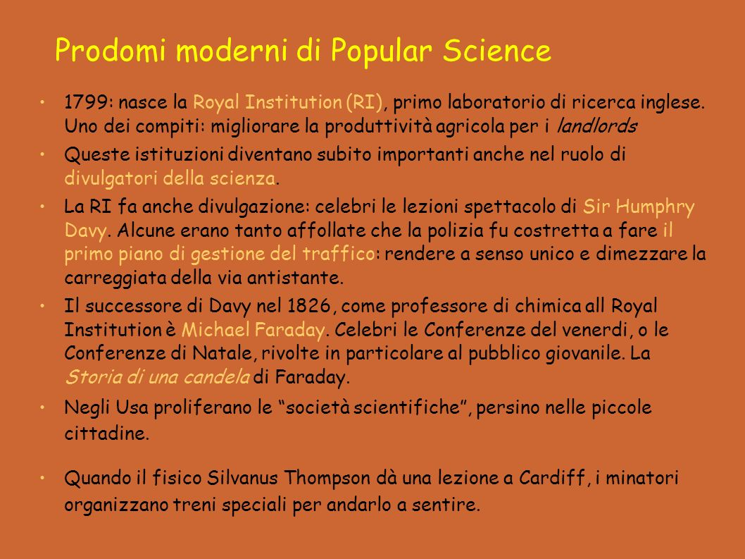 Prodomi moderni di Popular Science