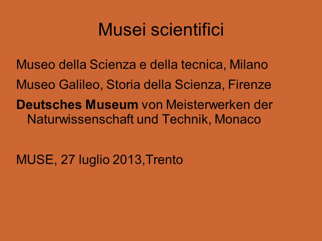 Musei scientifici