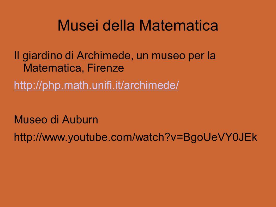 Musei della Matematica