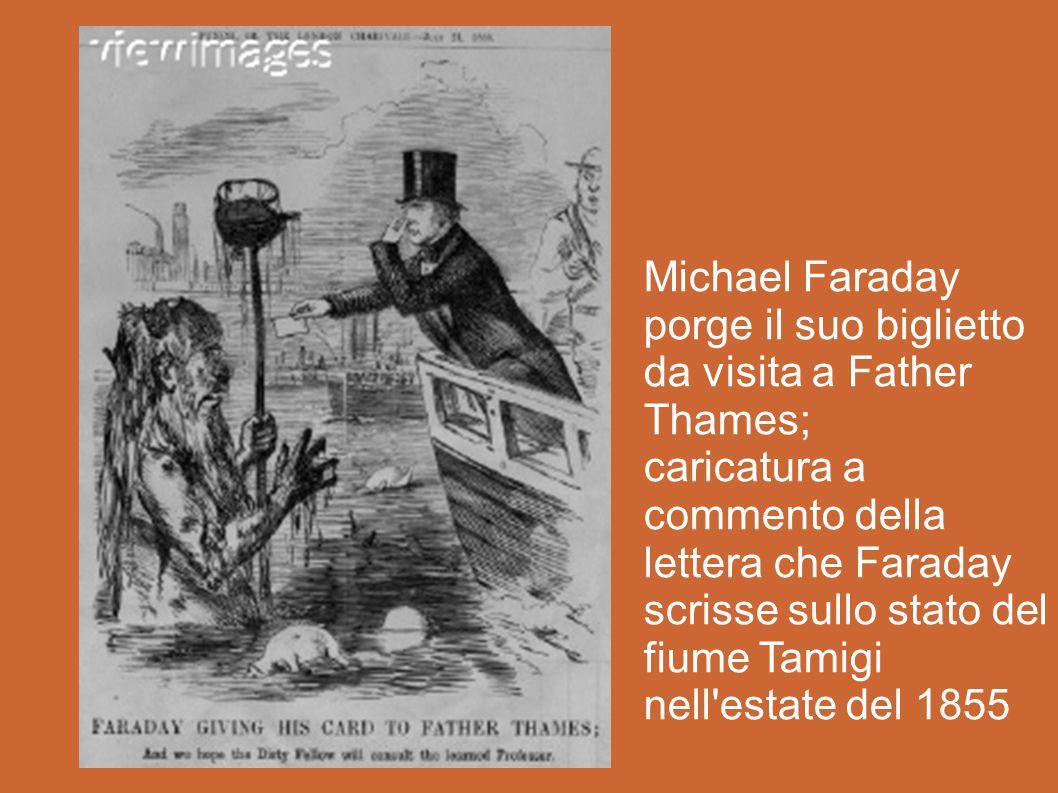 Michael Faraday porge il suo biglietto da visita a Father Thames;