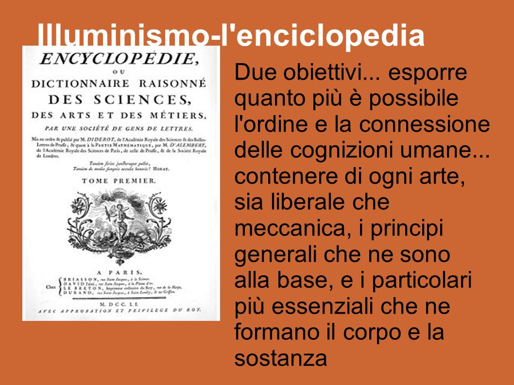Illuminismo-l enciclopedia