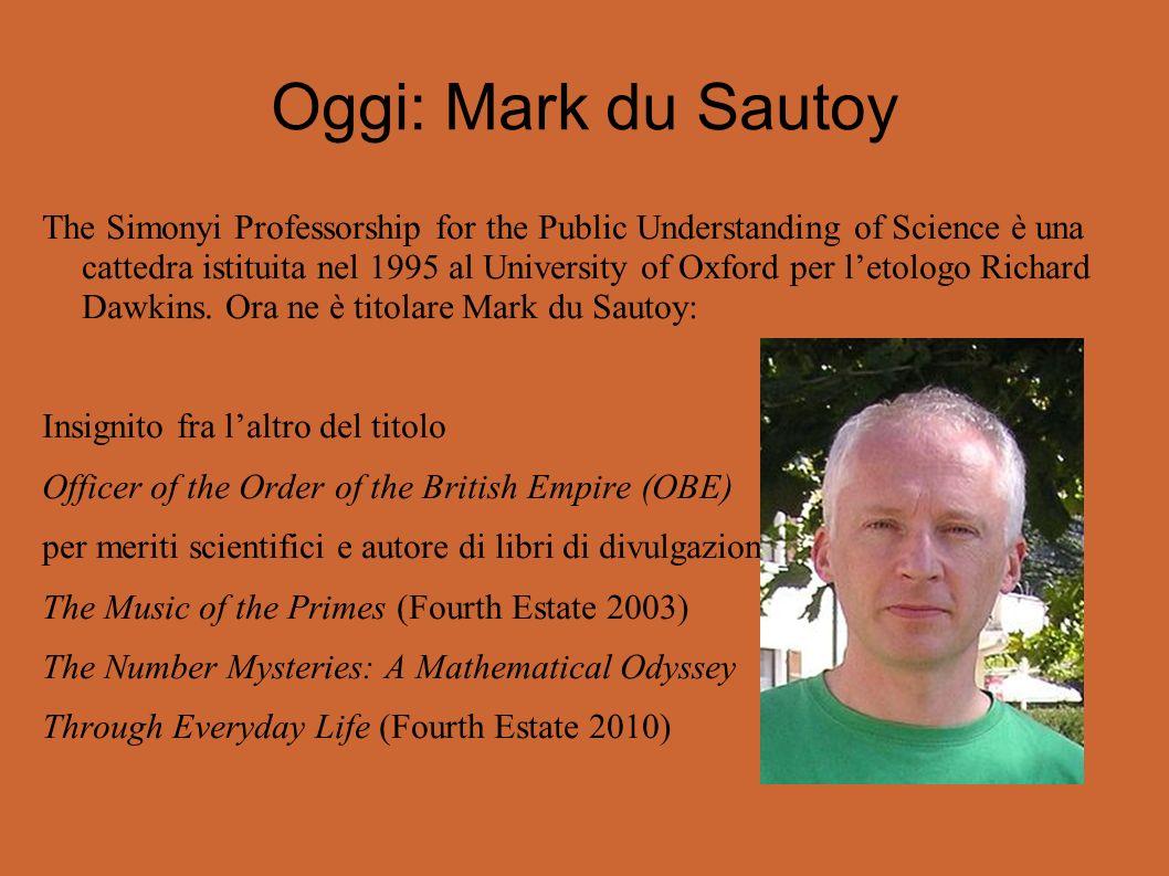 Oggi: Mark du Sautoy
